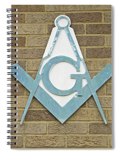 Square And Compasses #015 Spiral Notebook