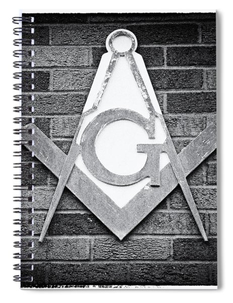 Square And Compasses #016 Spiral Notebook