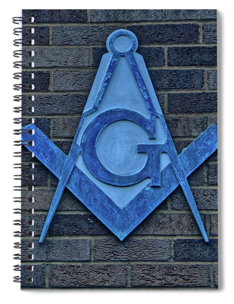 Square And Compasses #017 Spiral Notebook