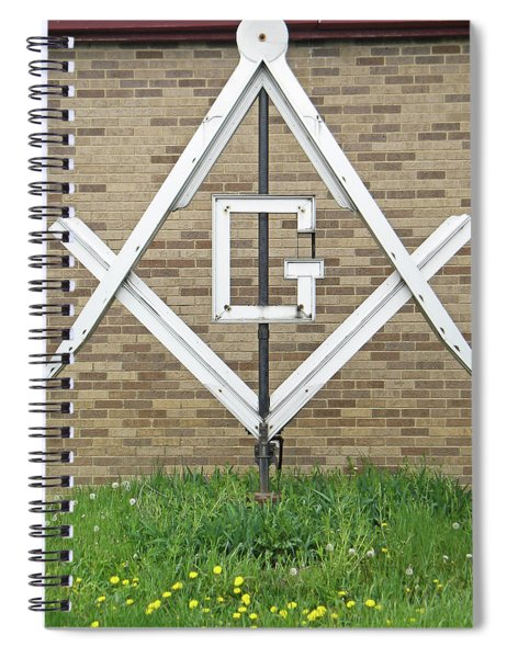 Square And Compasses #018 Spiral Notebook