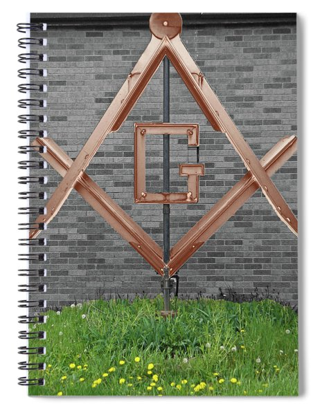 Square And Compasses #019 Spiral Notebook