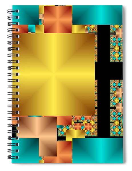 Squares Spiral Notebook