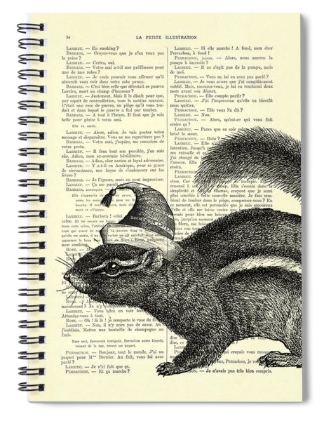 Squirrel With Hat Spiral Notebook
