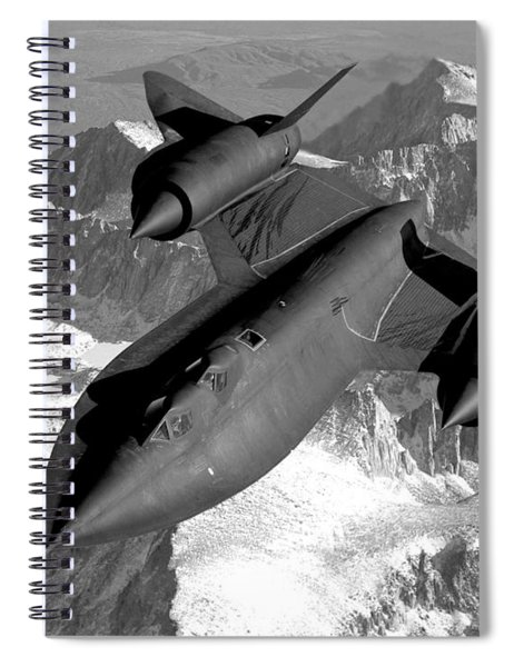 Sr-71 Blackbird Flying Spiral Notebook