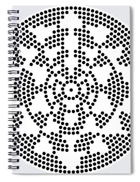 Sri Dots Spiral Notebook by Robert Thalmeier