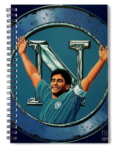 Ssc Napoli Painting Spiral Notebook