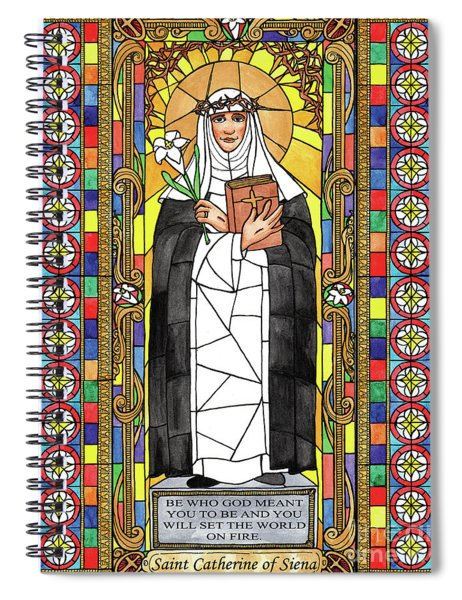 St. Catherine Of Siena Spiral Notebook