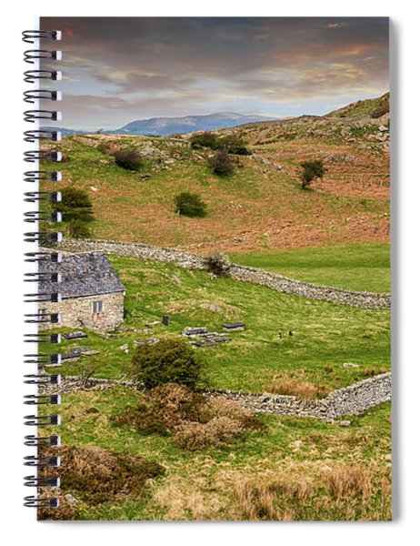 St Celynnin Church Sunset Spiral Notebook