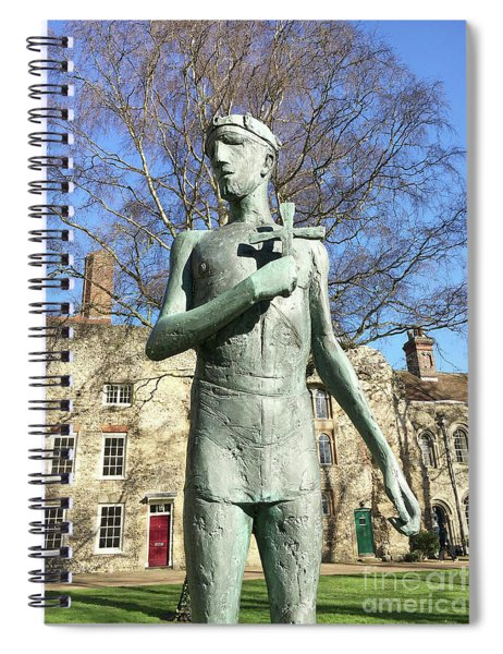 St Edmunds Statue Spiral Notebook