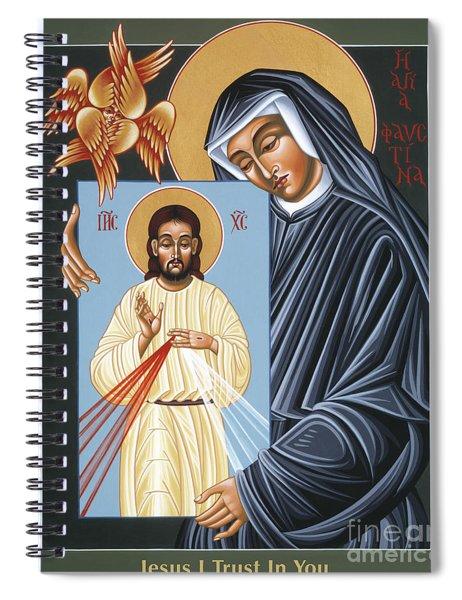 St Faustina Kowalska Apostle Of Divine Mercy 094 Spiral Notebook