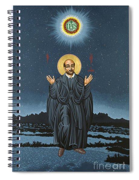 St. Ignatius In Prayer Beneath The Stars 137 Spiral Notebook