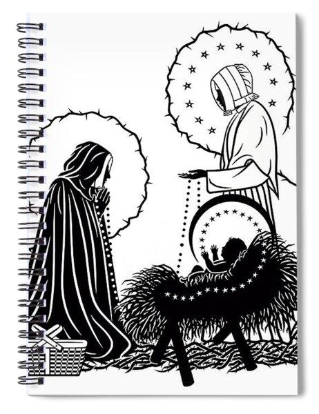 St. Jeanne Jugan And Infant Jesus Spiral Notebook