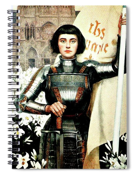 St Joan Of Arc - Jeanne D'arca Spiral Notebook