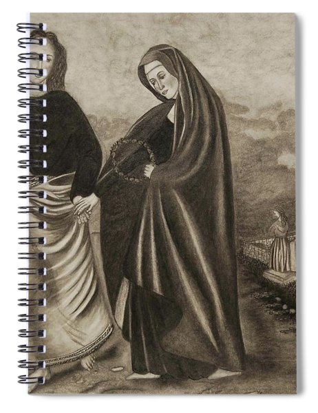 St. John And Blessed Mother At The Tomb Spiral Notebook