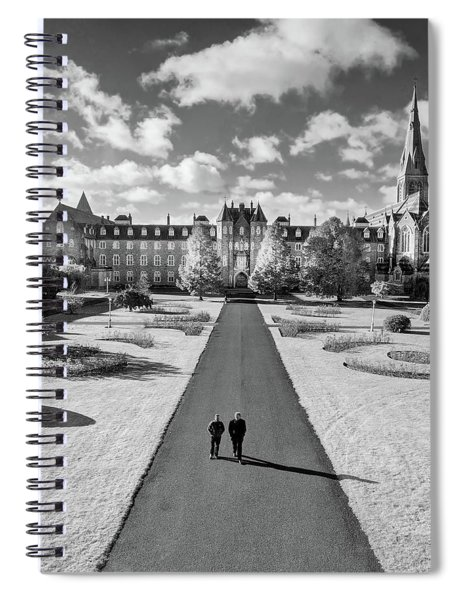 Spiral Notebook featuring the photograph St Joseph's Square At Maynooth University - Kildare, Ireland by Barry O Carroll