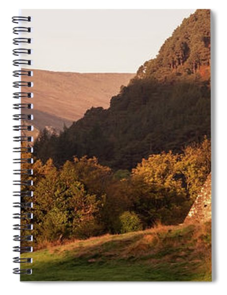 Spiral Notebook featuring the photograph Morning At Glendalough, County Wicklow - Ireland by Barry O Carroll