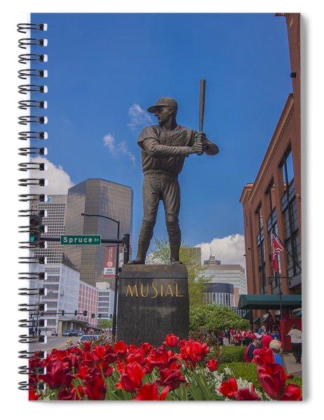 St. Louis Cardinals Busch Stadium Stan Musial Roses Spiral Notebook