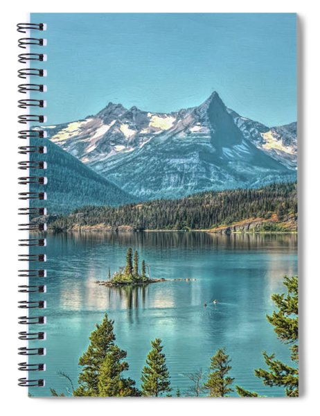 St Mary Lake Spiral Notebook