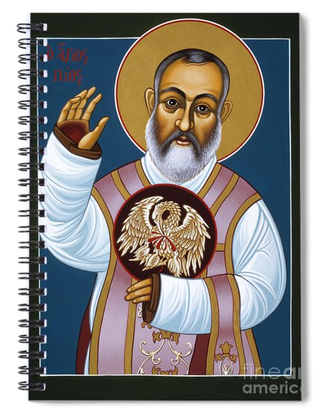 St Padre Pio Mother Pelican 047 Spiral Notebook