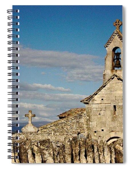 St. Pantaleon Church,  Luberon, France Spiral Notebook