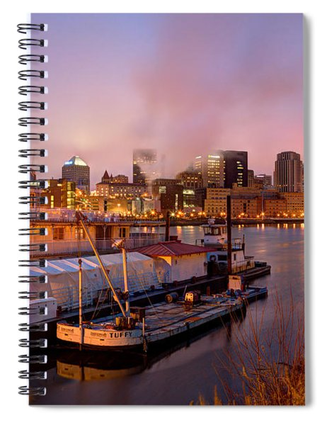 St Paul Minnesota Its A River Town Spiral Notebook