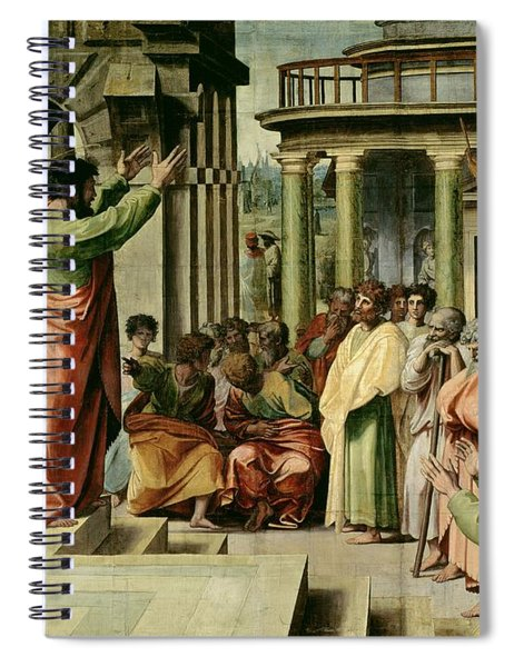 St. Paul Preaching At Athens  Spiral Notebook