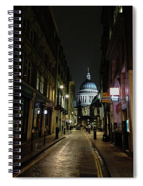 St. Pauls By Night Spiral Notebook
