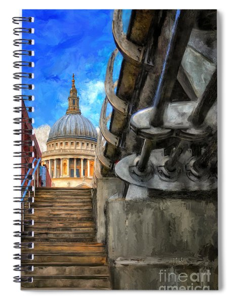 St. Paul's Cathedral And The Millennium Bridge Spiral Notebook