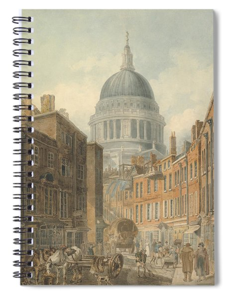 St. Paul's Cathedral From St. Martin's-le-grand Spiral Notebook