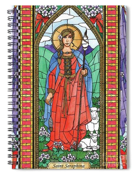 St. Seraphina Spiral Notebook