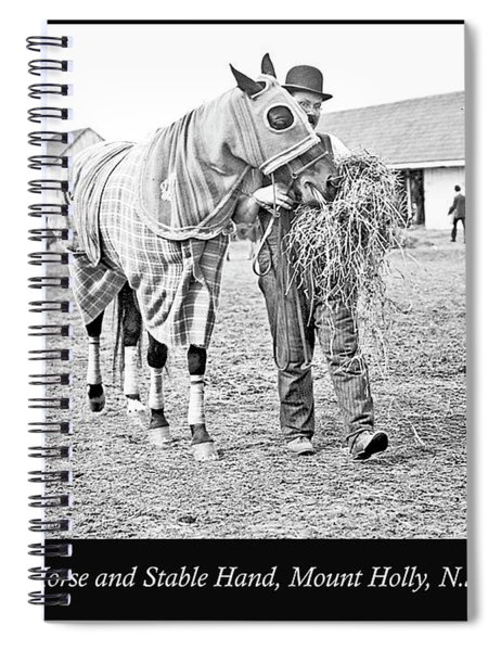 Stable Hand Walking Race Horse, New Jersey, 1907, Vintage Photog Spiral Notebook
