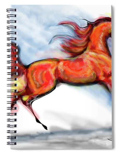 Staceys Arabian Horse Spiral Notebook