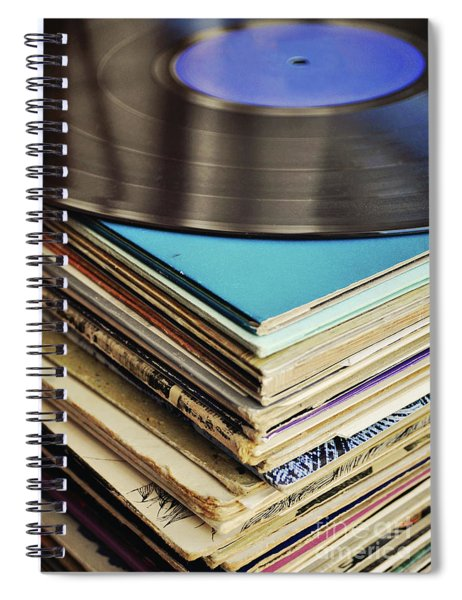 Stack Of Records Spiral Notebook