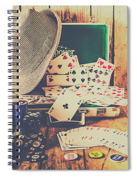 Stacking The Deck Spiral Notebook