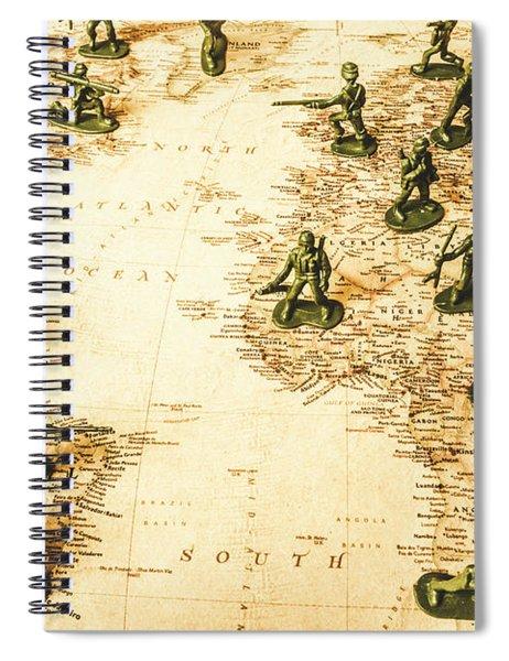 Staged World War Spiral Notebook