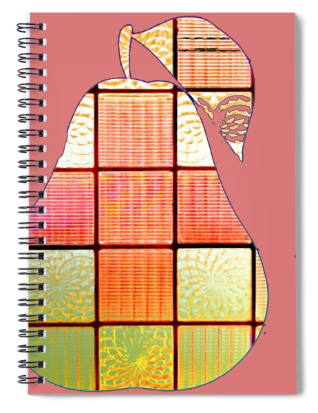 Stained Glass Pear Spiral Notebook