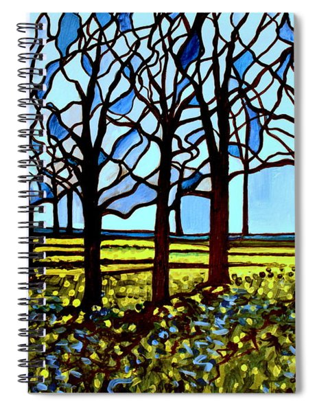 Stained Glass Trees Spiral Notebook