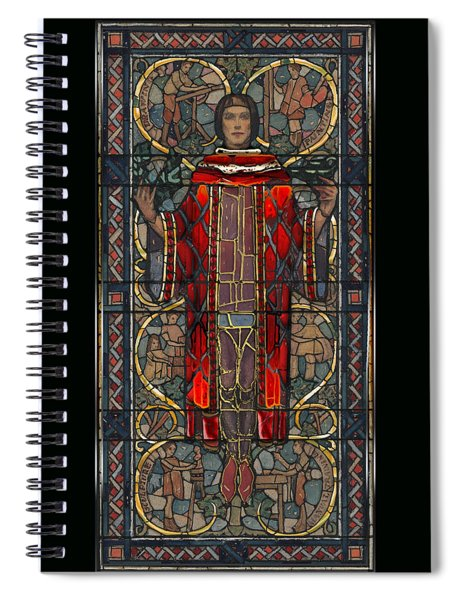Stained Glass Window 1928 - Remastered Spiral Notebook
