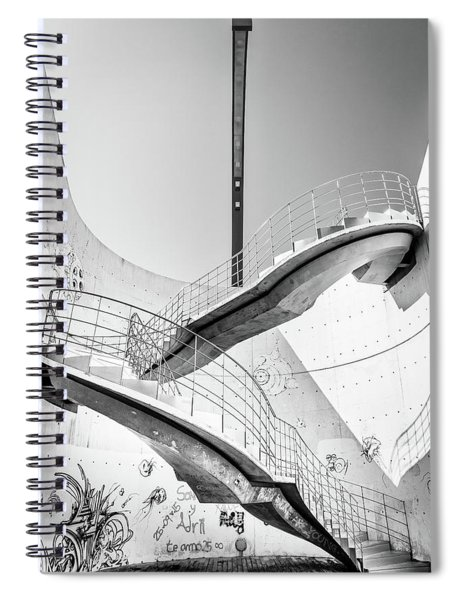 Stairs Lamp Graffiti Spiral Notebook