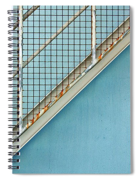 Stairs On Blue Wall Spiral Notebook