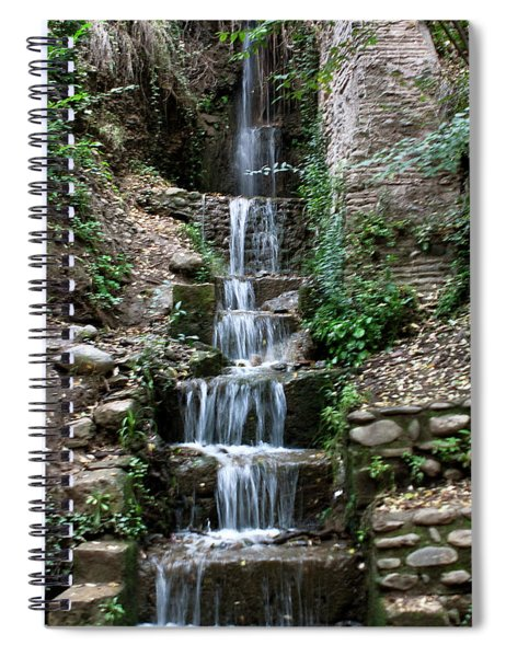 Spiral Notebook featuring the photograph Stairway Waterfall by Lorraine Devon Wilke