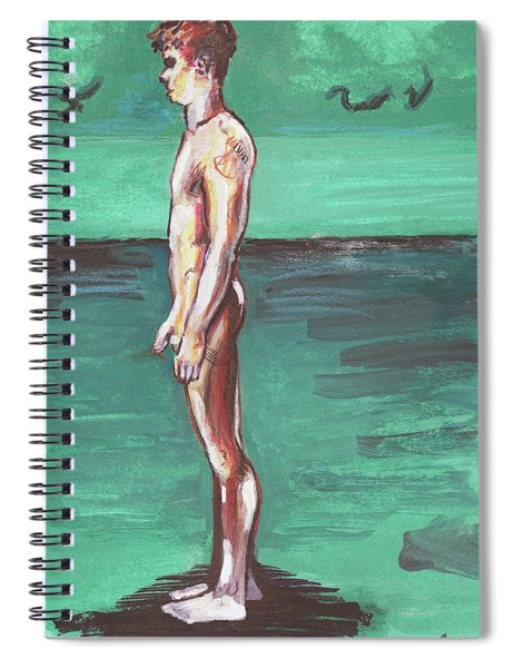 Standig On A Cold Beach With Hesitation  Spiral Notebook