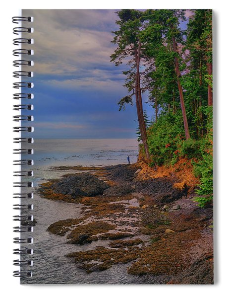 Standing By The Sea Spiral Notebook