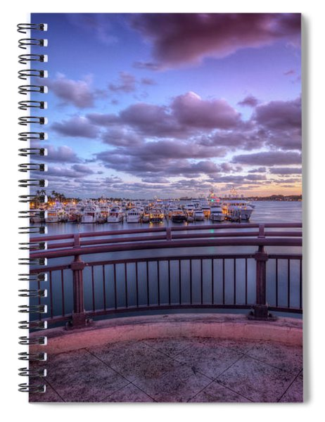 Standing On The Bridge Spiral Notebook