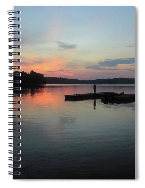 Standing On The Docks At Sunrise Spiral Notebook