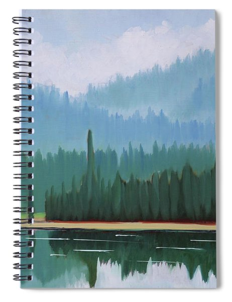 Stanley Lake - Far Shore Spiral Notebook