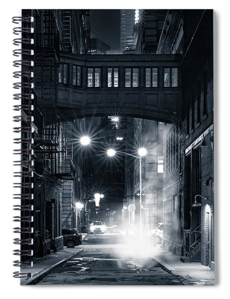 Staple Street Skybridge By Night Spiral Notebook