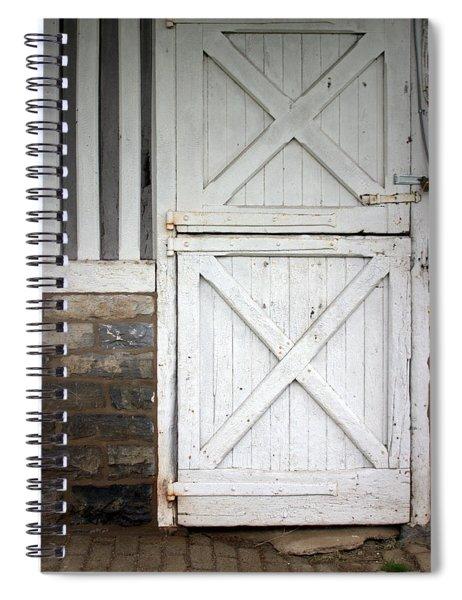 Star Barn Door Spiral Notebook