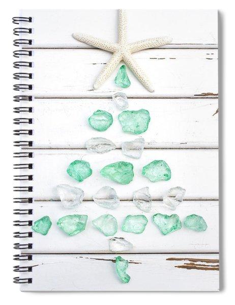Starfish Christmas Tree Spiral Notebook