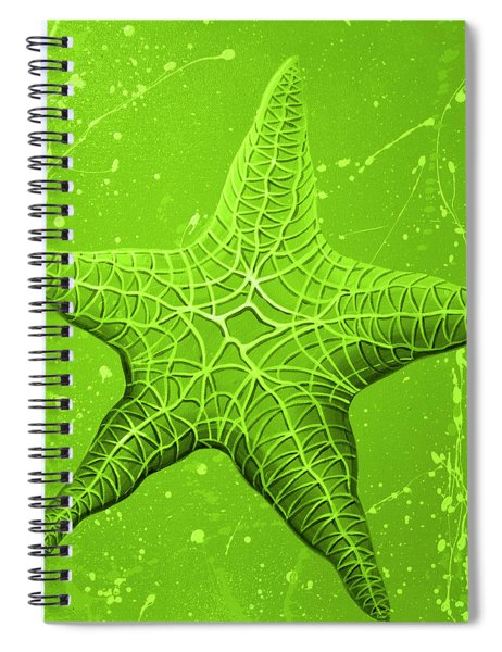 Starfish In Green Spiral Notebook